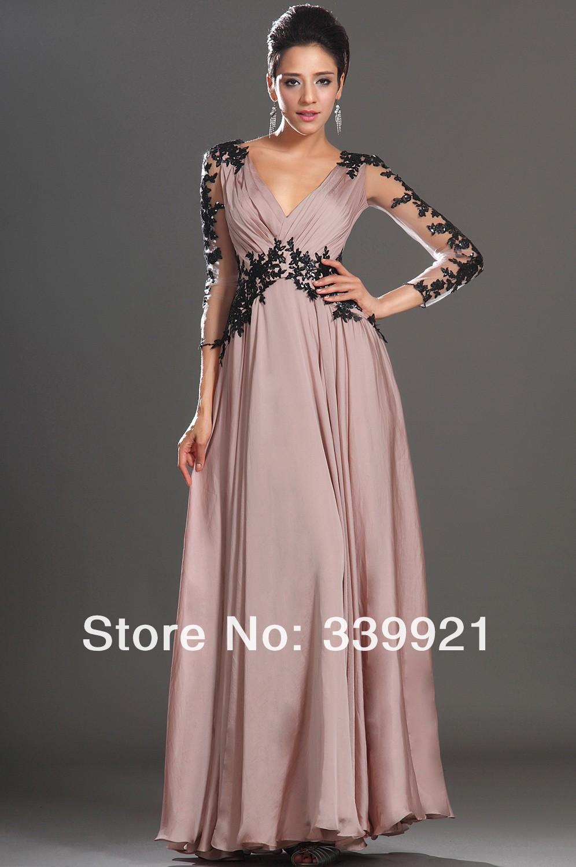 9e9e7070b vestidos manga larga para fiesta de noche