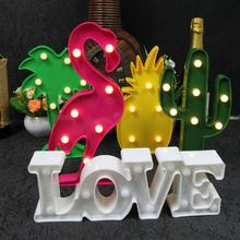 3D LED light battery led neon lights home and party decorative flamingo neon light