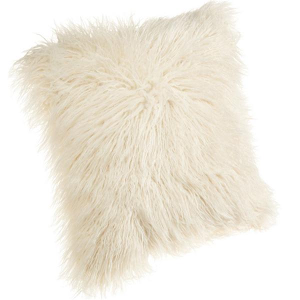 18 Inch Mongolian Faux Fur Pillow Decorative Fur Car Seat Cover Long
