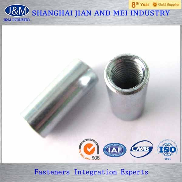 Long hex round coupling nut