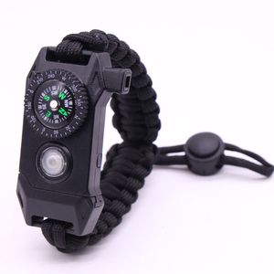 Camping Rescue Paracord Fire Stater Bracelet Multifunction Led Paracord Survival Bracelet