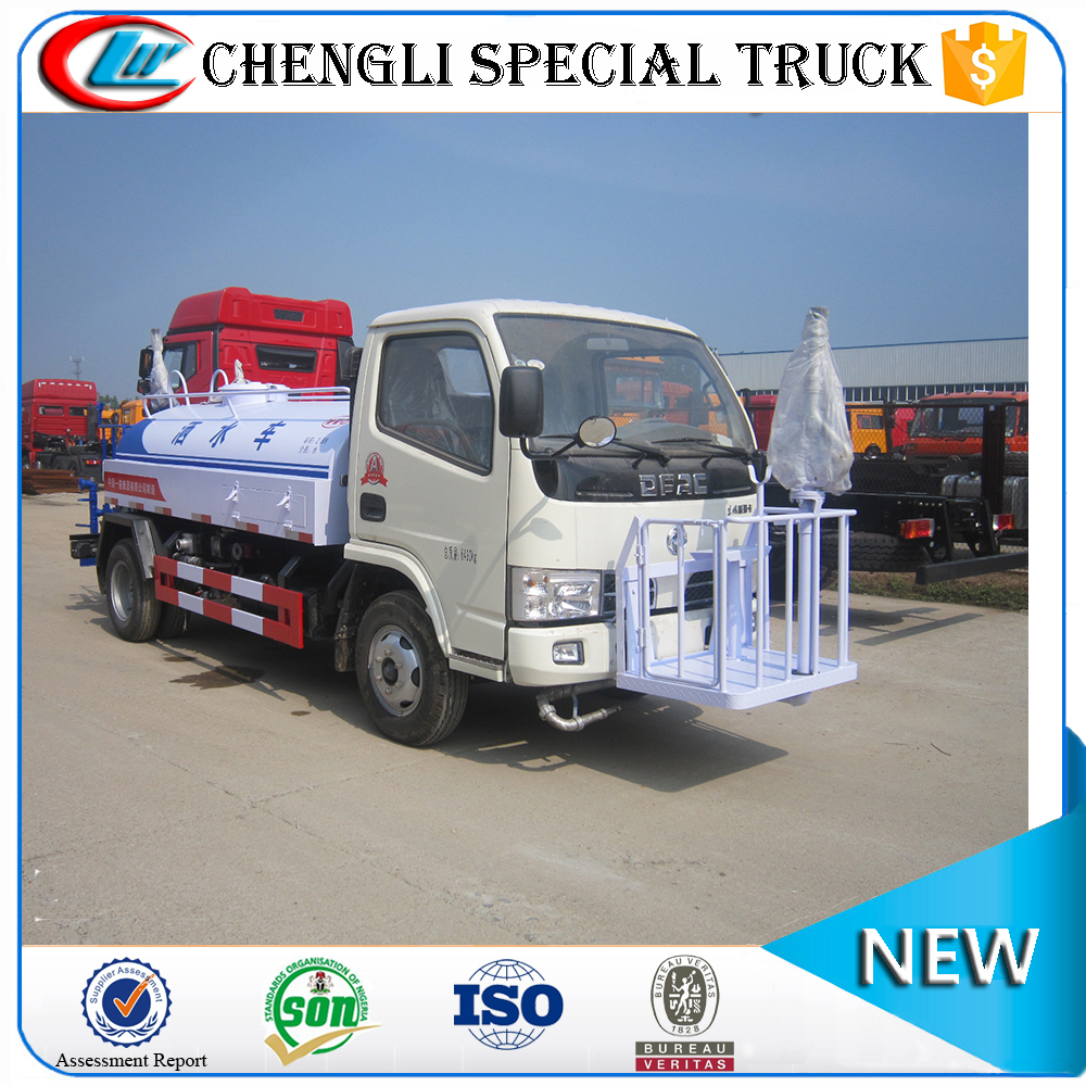 Dongfeng 4x2 6000l water tank for truck bed water spray truck