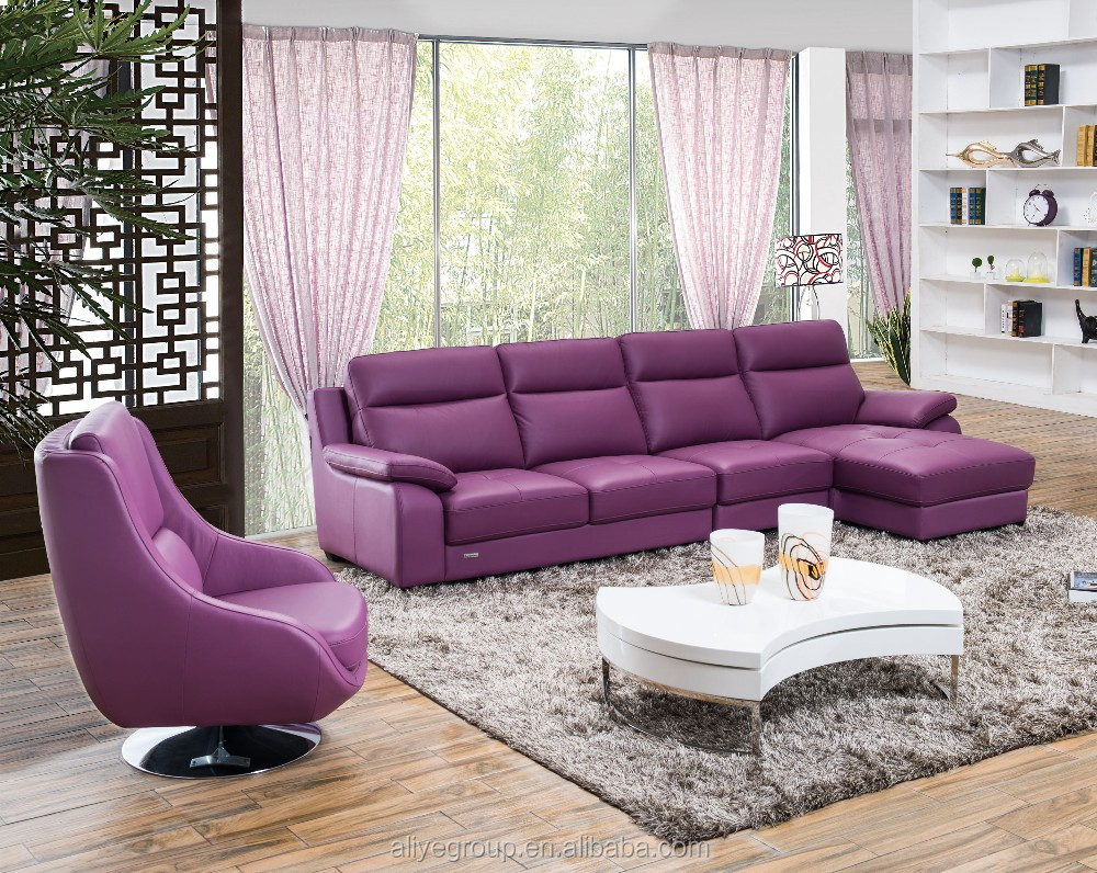 AS92- Home furniture use of best price modern leather corner sofa
