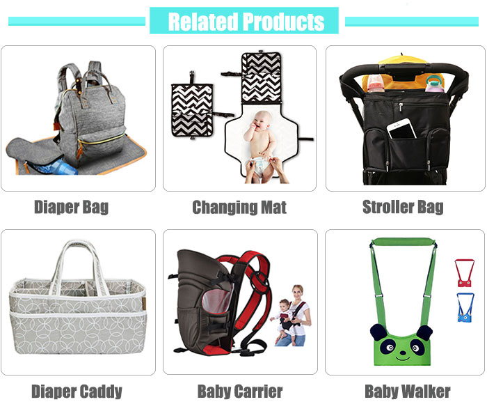 4pcs Baby Diaper Nappy Bag, Trendy Stroller Baby Diaper Bag Set with Milk Bottle Bag