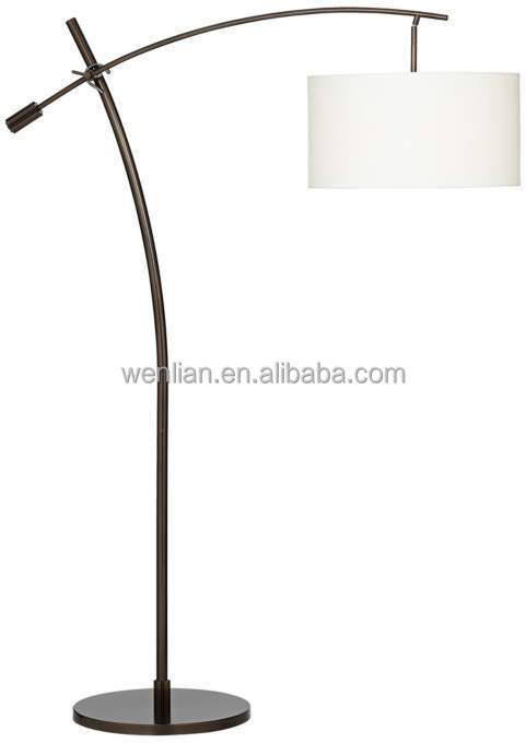 Bronze Boom Arc Floor Lamp/european Floor Lamps With Linen Shade ...