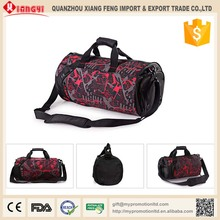 2015 Best seller unique camo polyester football sports messenger travel bag