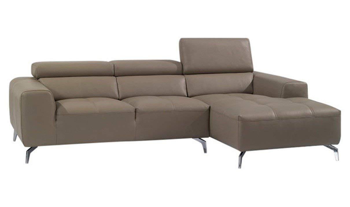 J&M Furniture A978B Italian Leather Right Facing Sectional Sofa in Burlywood