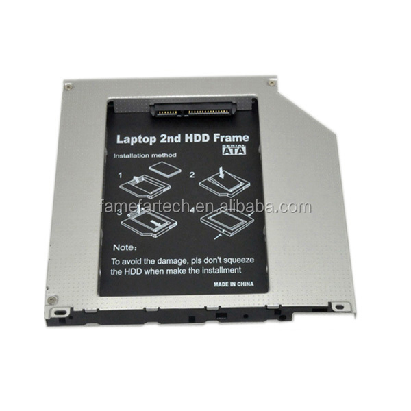 9.5mm rimovibile faceplate secondo hdd/sdd caddy per macbook pro