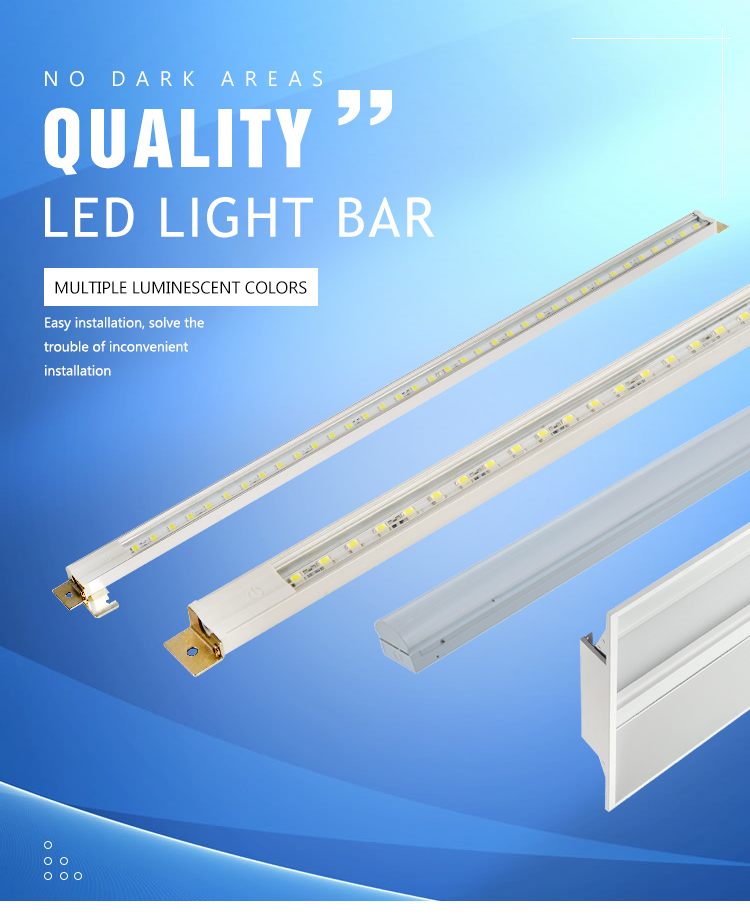 2018 Hot selling double row led panel cabinet light