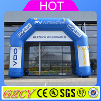 Inflatable running race activities finish line arch