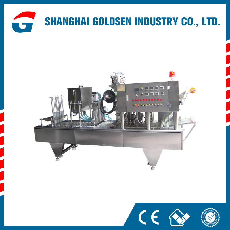Low cost automatic plastic cup lid making machine,small cup sealing machine.water cups filling and sealing machines