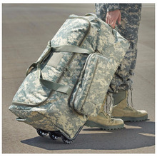 ACU Digital Camouflage - Military Wheeled Traveling Luggage Trolley Bag