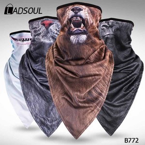Plus Long Fashion Triangular Animal Sand Breathable Men and Women Outdoor Riding Neck Sets Printed Animal Scarf