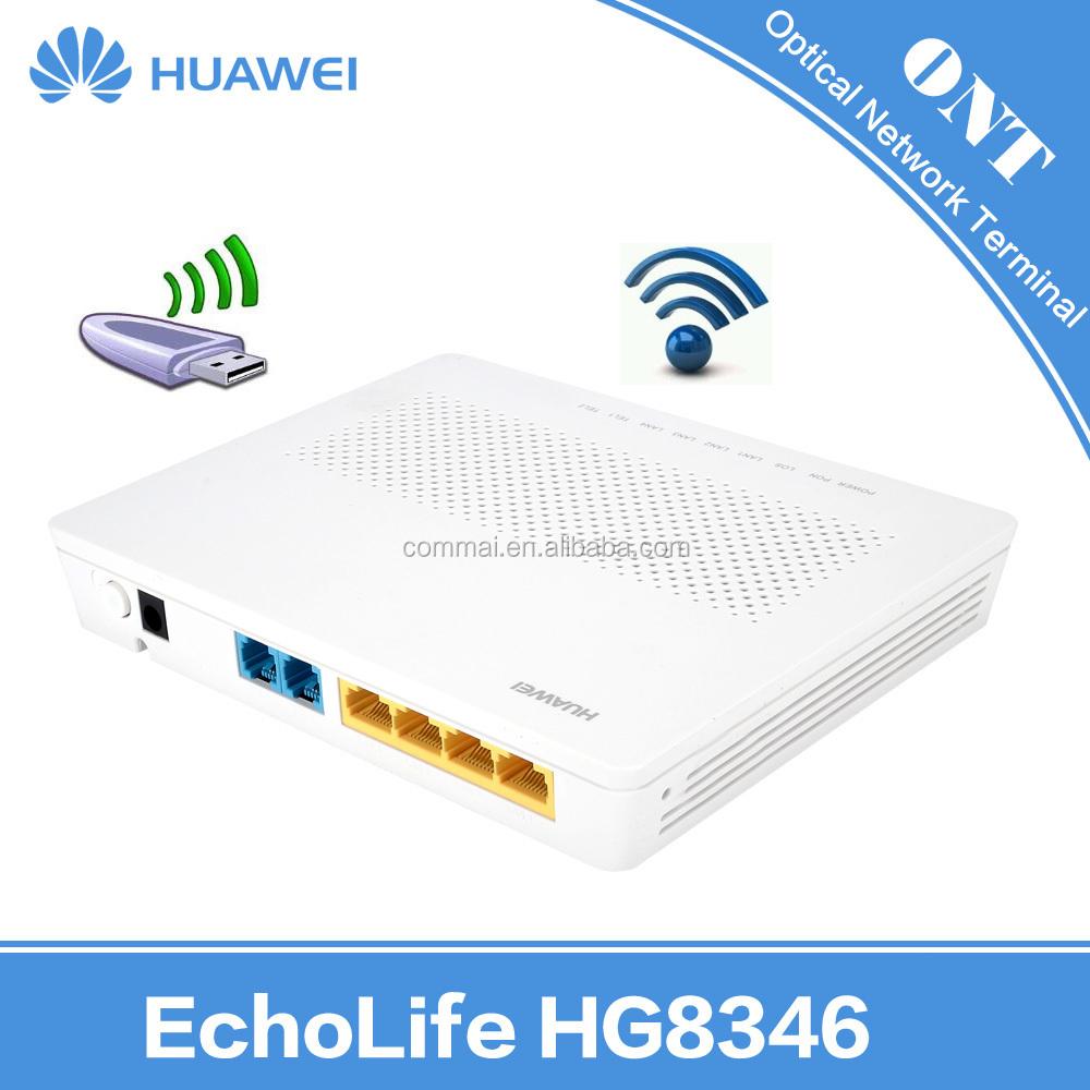 Newest Huawei Hg8546m Echolife Lan+2pots+wifi+usb+power+pon+los+wlan+wps  Epon Gpon Onu Ont Optical Network Terminal Wifi Router - Buy Huawei Hg8346m