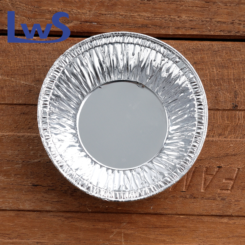 Small Size Aluminum Foil Egg Tart Trays For Oven/Microwave Foil Container