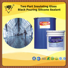 Two Part Insulating Glass Black Pouring Silicone Sealant