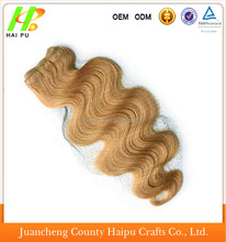 50% more Peruvian hair mixed synthetic body wave hair weaving