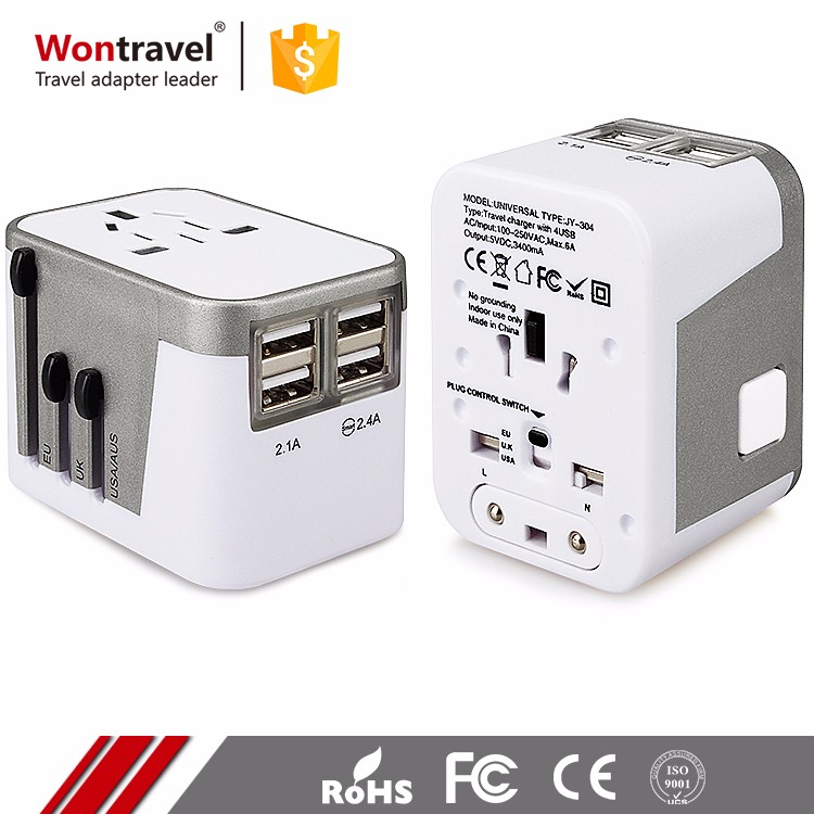 Wontravel Hot Selling International Travel Power Adaptor Quick Charger USB Adapter Europe <strong>Plug</strong>