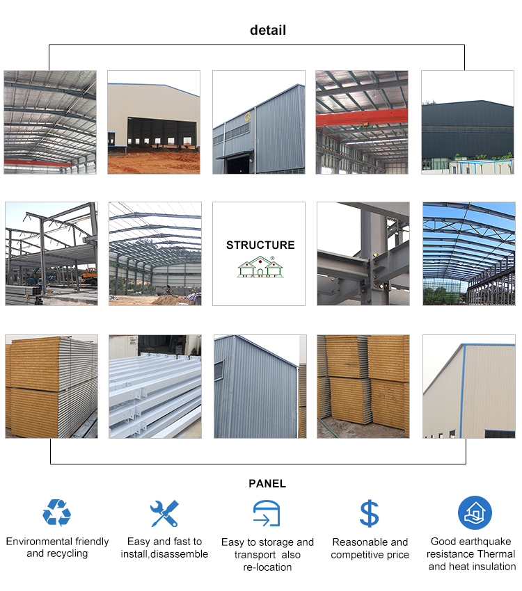 windproof prefab warehouse directly sale for storage