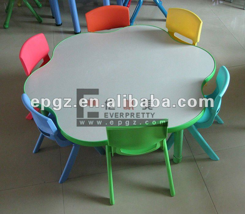 Kindergarten Round Table And Chairs Sets,Flower Table In Kids School,Kids  Safe Table   Buy Colorful Kids Study Round Table,Round Table Of  Kindergarten,Kids ...