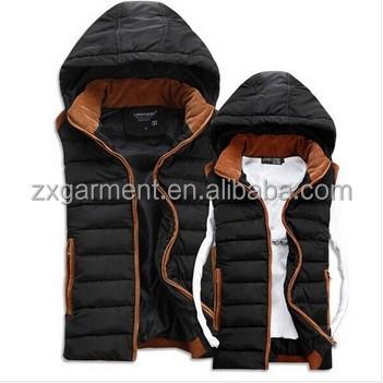 Casual Hooded Vests Men Women Sleeveless Jacket 2017 Autumn Winter ...