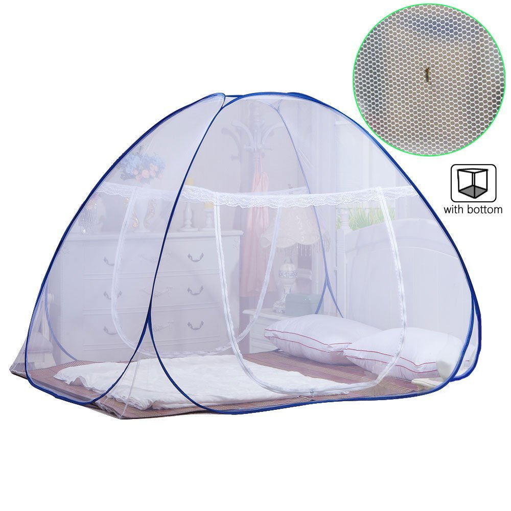 One Touch Mosquito Netting For Bed Foldable Yurt Mosquito Tent Net ... for Folding Mosquito Net For Baby  75sfw