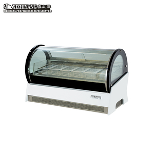 Commercial Refrigeration Equipment Countertop Mini Ice Cream Display Showcase Freezer