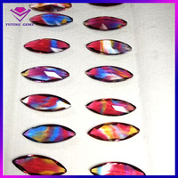 Marquise shape multicolor crystal flavor stone buyer of precious stone