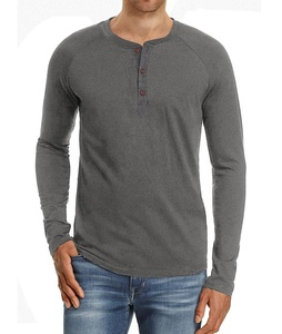Cotton Shirts Men Casual Slim Fit Short Sleeve Henley T-shirts Cotton Shirts