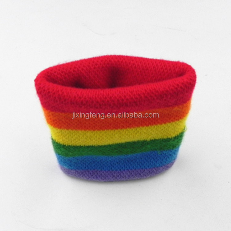 Elastic cotton colorful basketball sport wrist bands