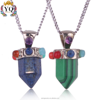 PYQ-179 simple daily green Turquoise and nature blue stone pendant wholease