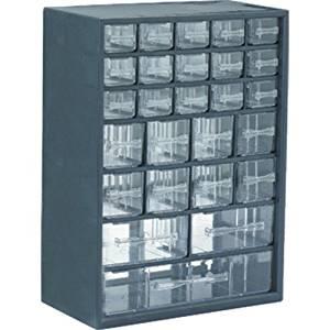 Flambeau U26P 26 Drawer Plastic Cabinet (12 inch x 6-1/4 inch 16-1/2 inch) -2 pack