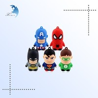 Special cute edge colored superhero usb cartoon usb flash drive
