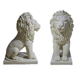 9e37aba4a4a57 Grand extérieur lion décor jardin décoration animale fonte statue en pierre