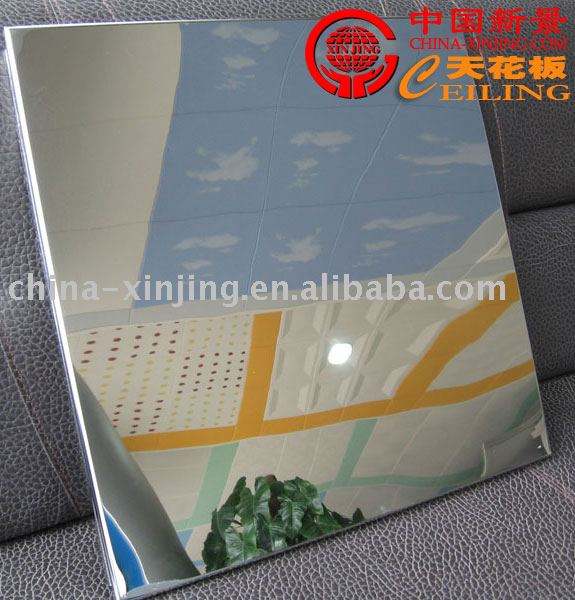 smooth reflective mirror aluminum ceiling- lay in