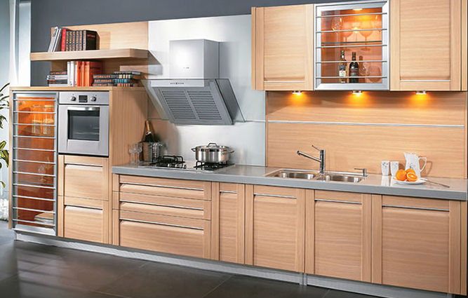 Ready Made Pvc Mdf Kitchen Cabinets-frosted Glass Kitchen