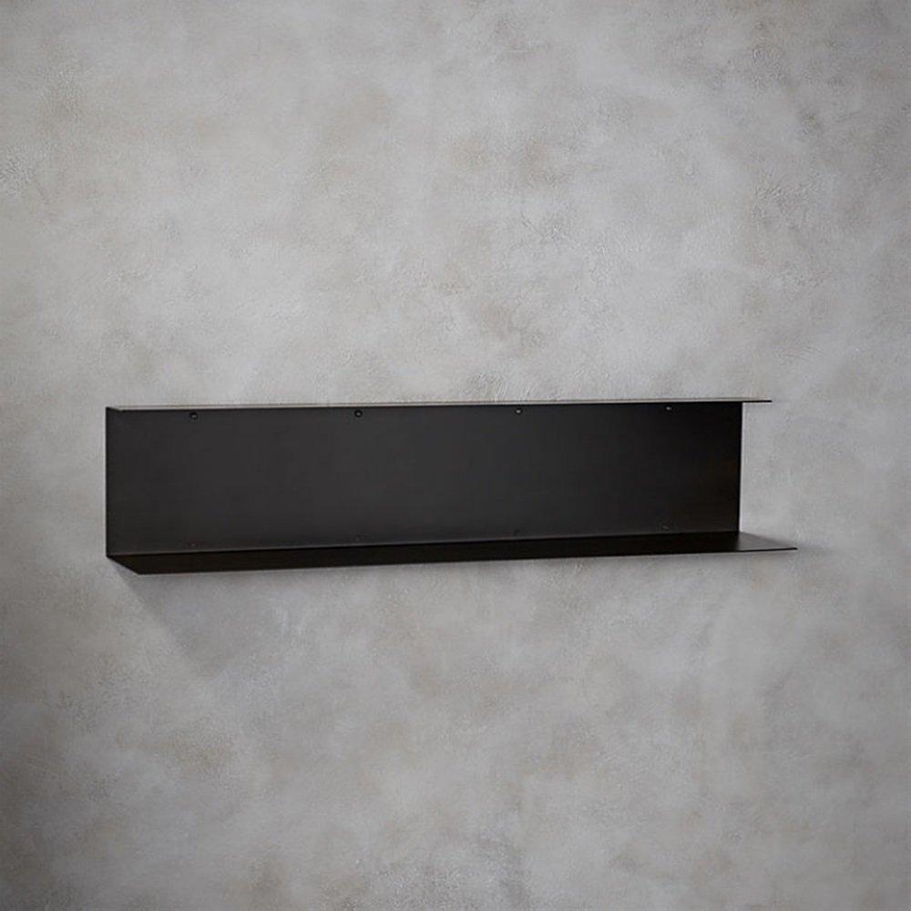 Nordic Wall Shelf / Living Room Bedroom Cladding Iron Bookshelf Display Stand / 120 26cm