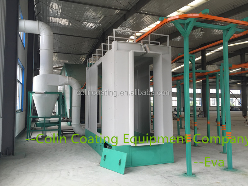 Powder Coating Equipment For Fasteners/ Conveyor Paint Line Cascade For Optiselect/Gema Powder Coating Gun