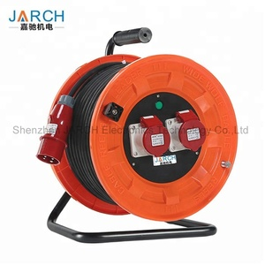 Waterproof Extension cable reel drum for used outdoors or in contact with oil 380V 16A industrial automatic portable hose reels