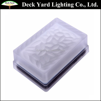 Outoor Square Solar Recessed Garden Wall Light Led Stepping Paver Lights