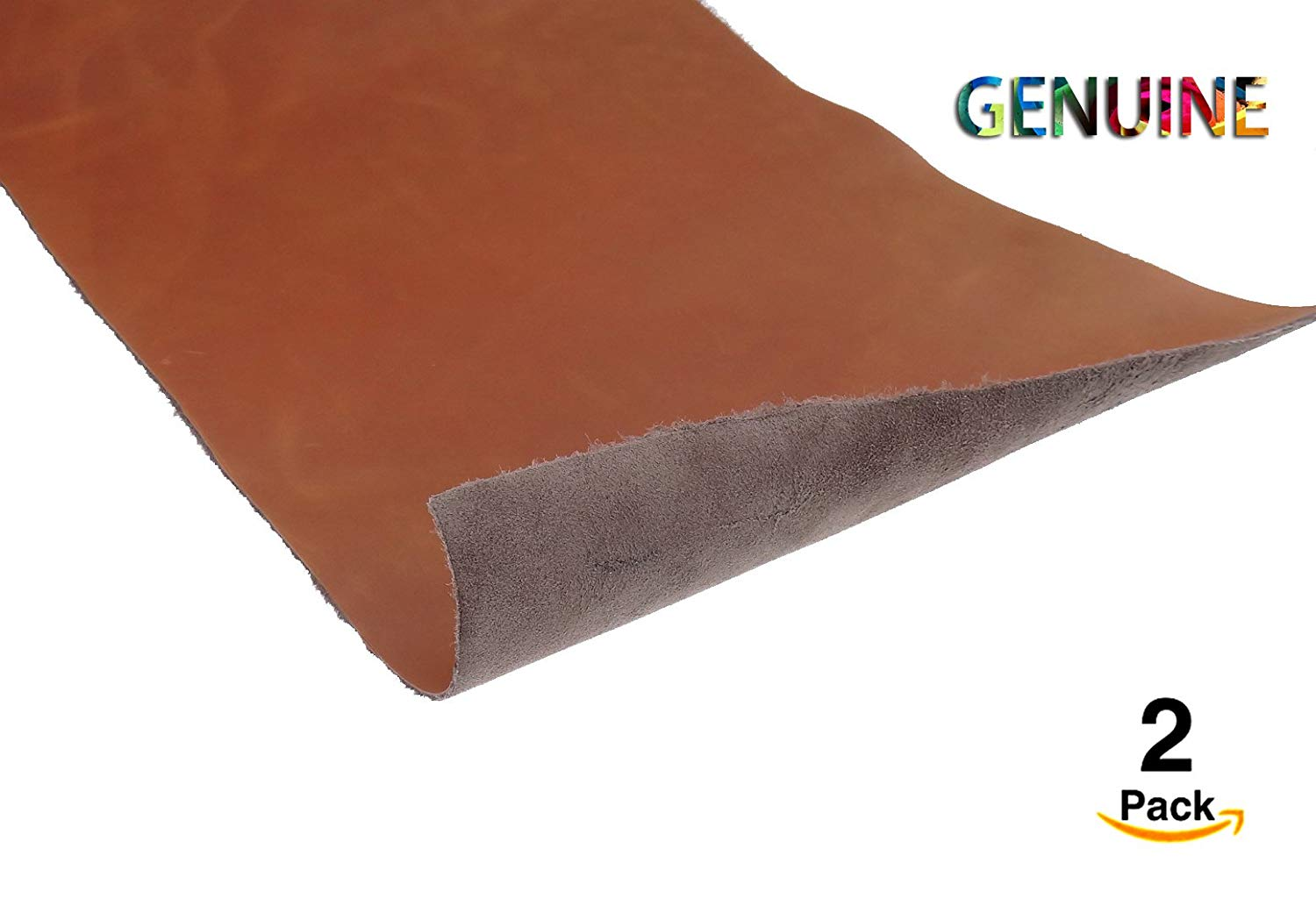 Genuine Cowhide Genuine Cow Leather Genuine Leather Hides Cow Skin Various Colors And Sizes Tooling Leather Shapes Leathercraft Accessories Supplies Leathercraft (deep tan, 1X0.5 (FOOT)(2PACK))