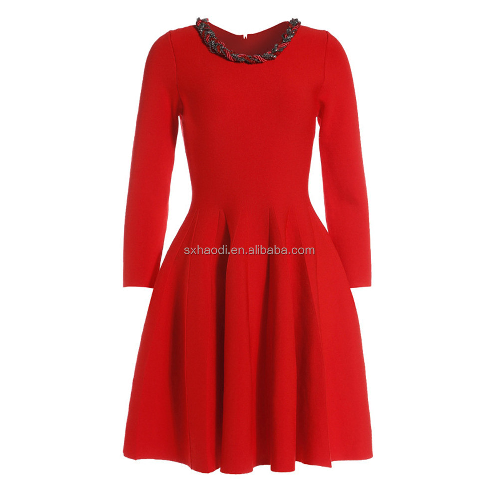 Knitted garment manufacturers,New hot fashion casual women dress,latest formal dress for ladies