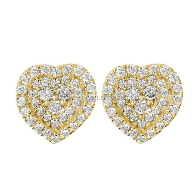 Gold Plated Diamond Studded Gold Earrings