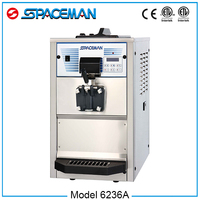 Hot sale SPACEMAN hopper cooling milk shake fried ice cream machine 6236A
