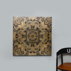 Hot gold foil craft classical printed canvas art wholesale