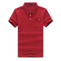 Summer New Polo Men Luxury Polo Shirt Pocket Dot Plus Size 6XL 5XL Polo Shirts Red Green Blue