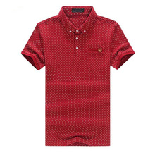 Summer New Polo Men Luxury Polo Shirt Pocket Dot Plus Size 6XL 5XL Polo Shirts Red Green Blue