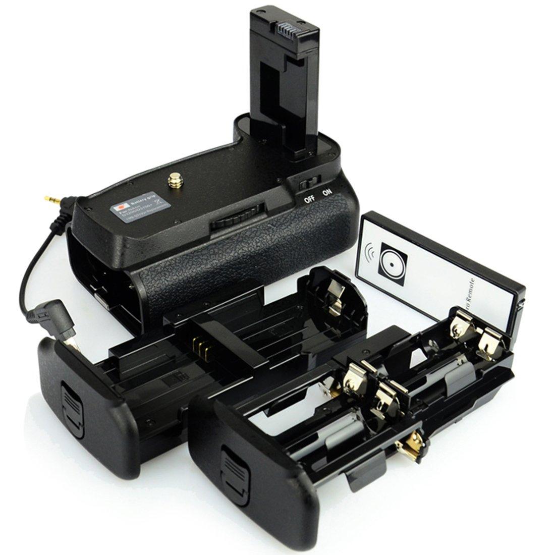 DSTE Pro IR Remote MB-D31 Vertical Battery Grip for Nikon D3100 D3200 D3300 D5300 SLR Digital Camera as EN-EL14 EN-EL14A