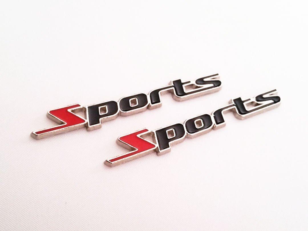 Car Body Door Metal 3D Logo Sticker Car Fender Emblem Trunk Badge Sticker Sport