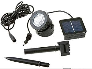 RioRand Outdoor Waterproof 6 LED Solar Underwater Solar floodlights cast light split indoor lighting